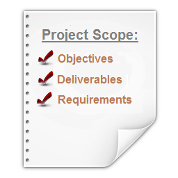 how to set project scope